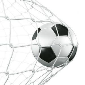Soccerball in net