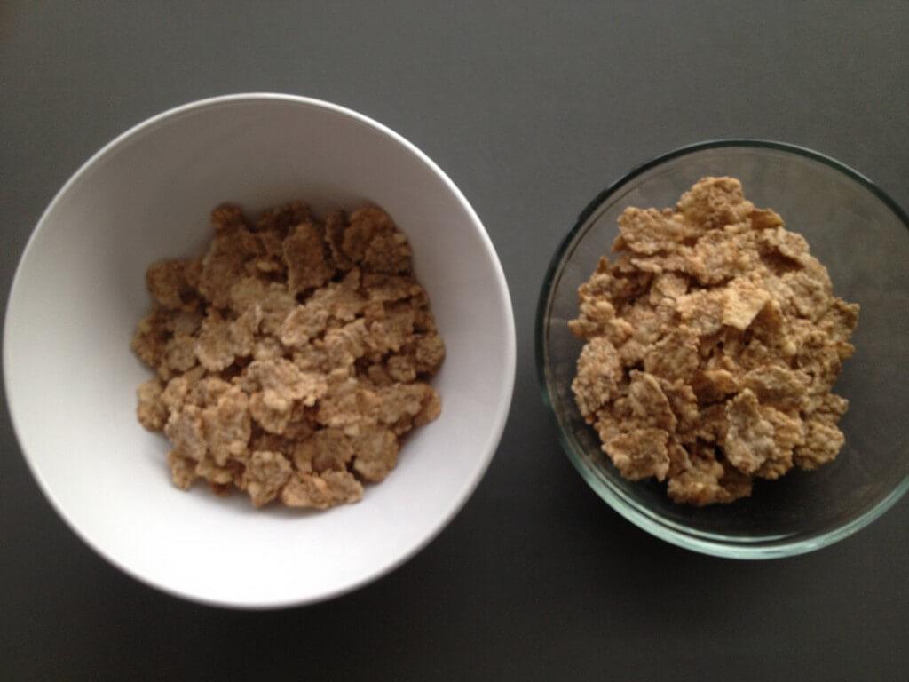 To tallerkener - samme mad