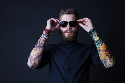 dhipster portrait with black backround