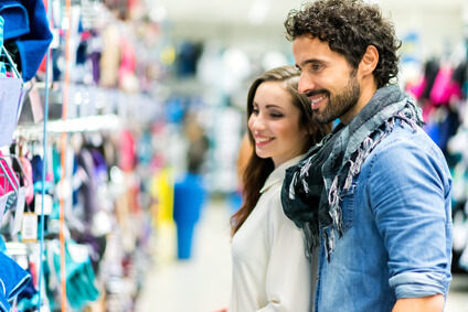 Couple doing shopping together